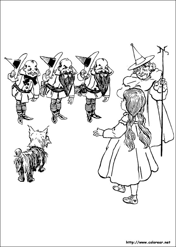 The Wonderful Wizard Of Oz Coloring Pages