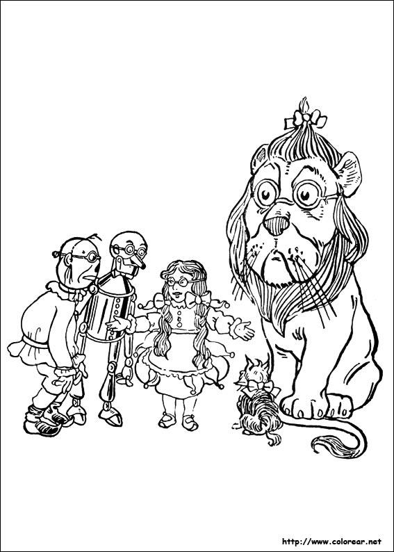 Dibujos para colorear de El Mago de Oz