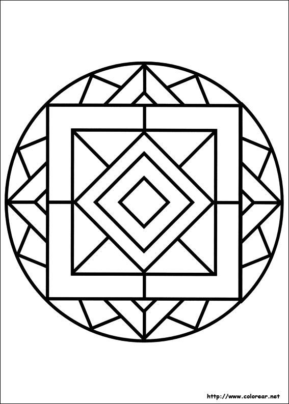 Dibujos para colorear de mandalas for Disegni per mosaici da stampare
