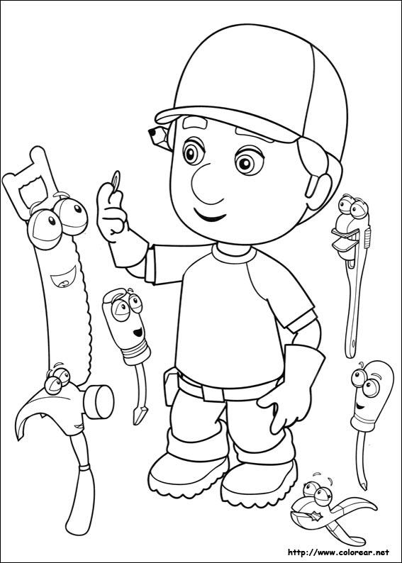 Dibujos para colorear de manny a la obra y sus herramientas for Trabajo jardinero