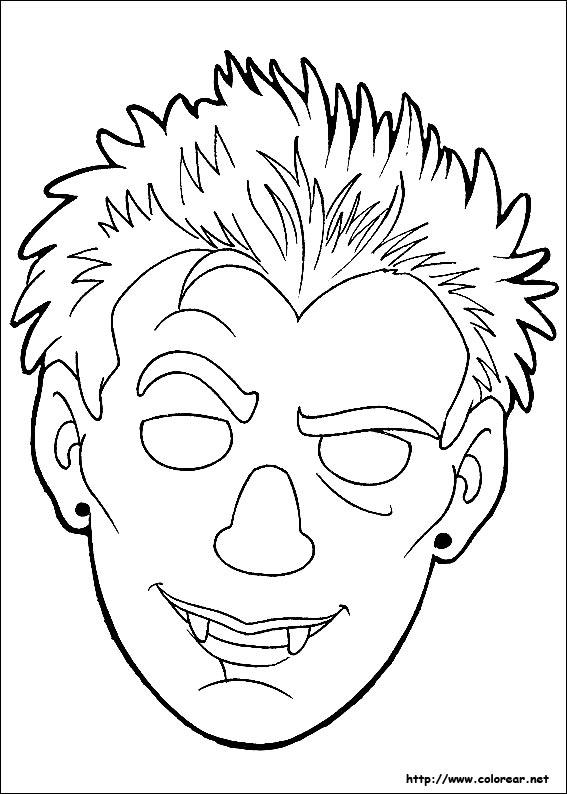 Dibujos de Máscaras de Halloween para colorear en Colorear.net