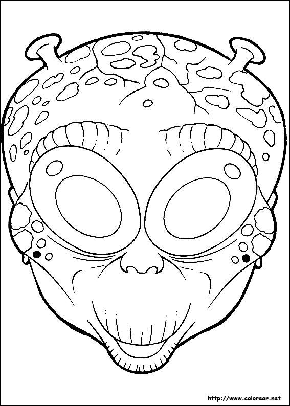 Dibujos para colorear de Máscaras de Halloween