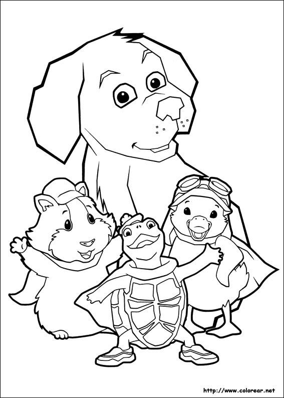 Dibujos para colorear de Las Mascotas Maravilla
