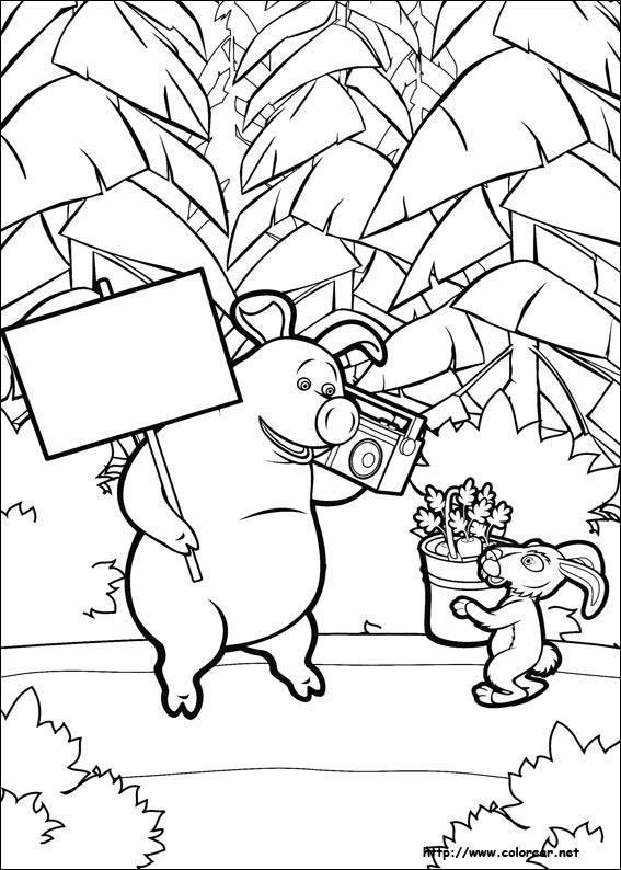 Dibujos de Masha y el oso para colorear en Colorear.net