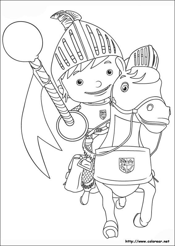 Dibujos para colorear de Mike el Caballero