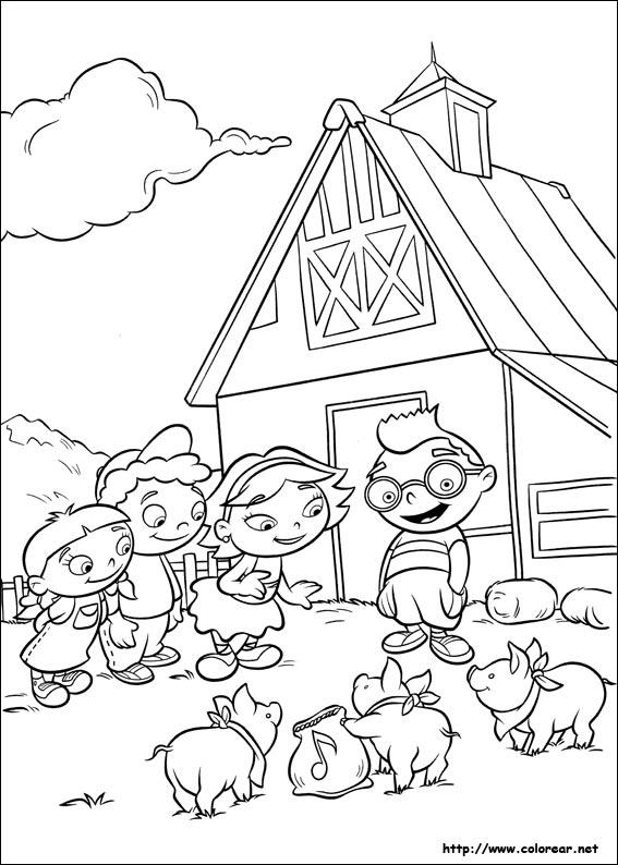 Dibujos de Mini Einsteins para colorear en Colorear.net