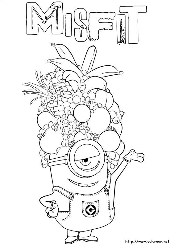 Dibujos de Minions para colorear en Colorearnet