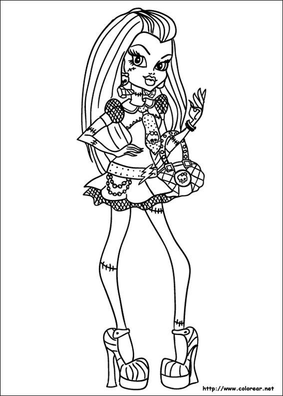 Dibujos de Monster High para colorear en Colorearnet