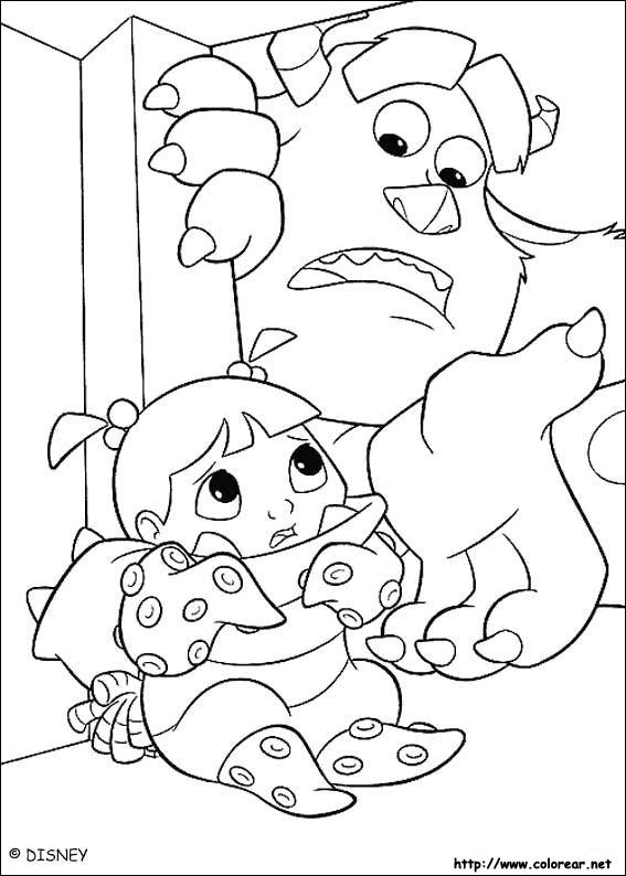 monsters inc doors coloring pages - photo#16