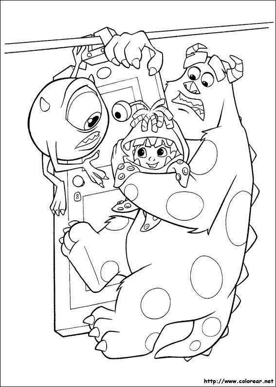Dibujos para colorear de Monstruos SA