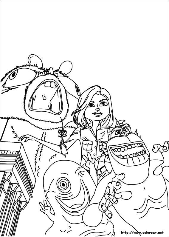 Dibujos para colorear de Monstruos contra Alienígenas