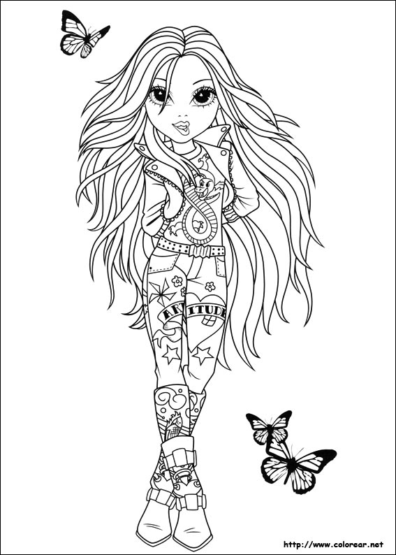 bratz mermaid coloring pages - photo#28