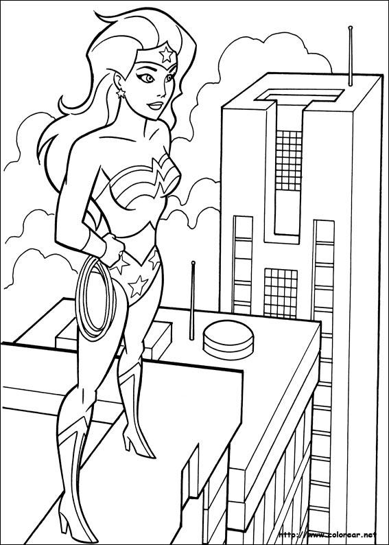 Dibujos de Mujer Maravilla para colorear en Colorear.net
