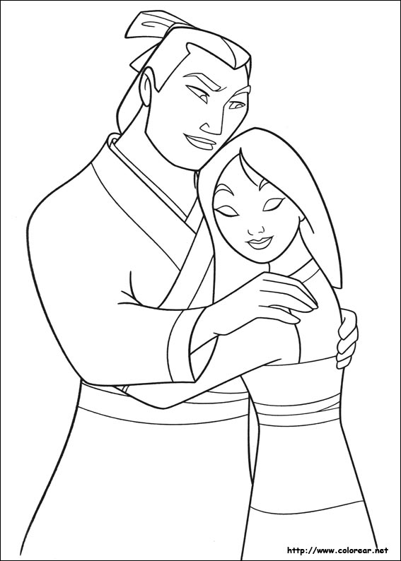 Mulan Shan You Coloring Page Coloring Pages Mulan Coloring Page