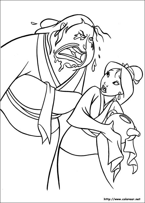 mulan shan yu coloring pages - photo#22