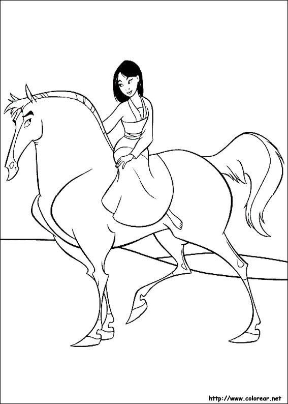 Dibujos de Mulán para colorear en Colorear.net