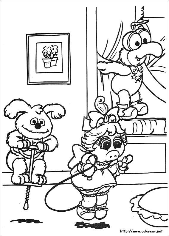 Dibujos para colorear de muppets babies for Muppet babies coloring pages