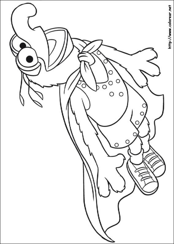 Magnífico Muppets Para Colorear Viñeta - Dibujos de Animales para ...