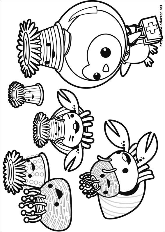 Dibujos para colorear de Octonautas
