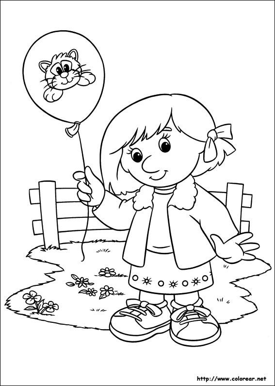 Dibujos para colorear de Pat el Cartero