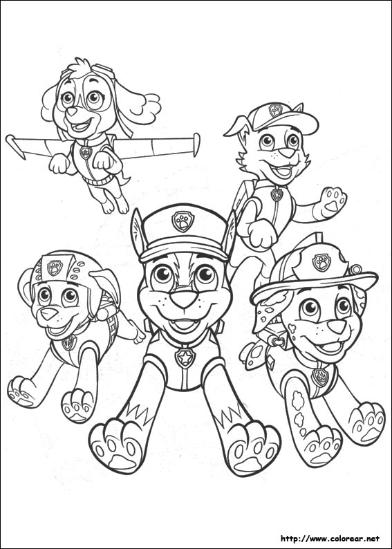 Chase From Paw Control - Free Colouring Pages