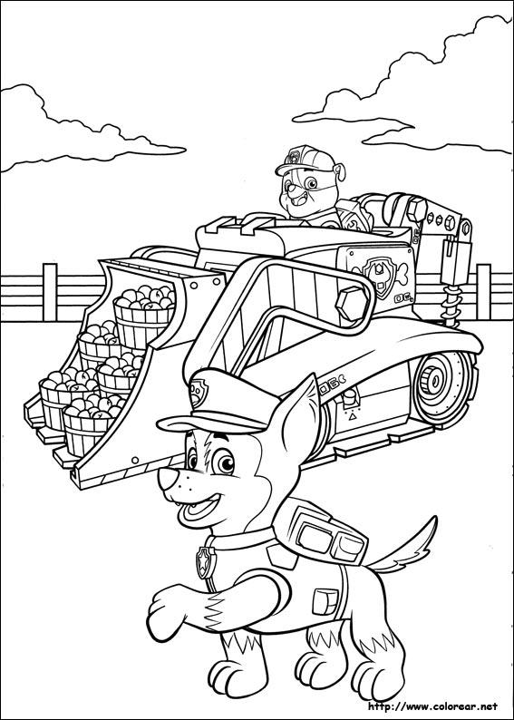 Раскраска патруль - 5