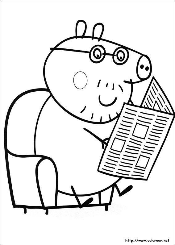 Dibujos de Peppa Pig para colorear en Colorear.net