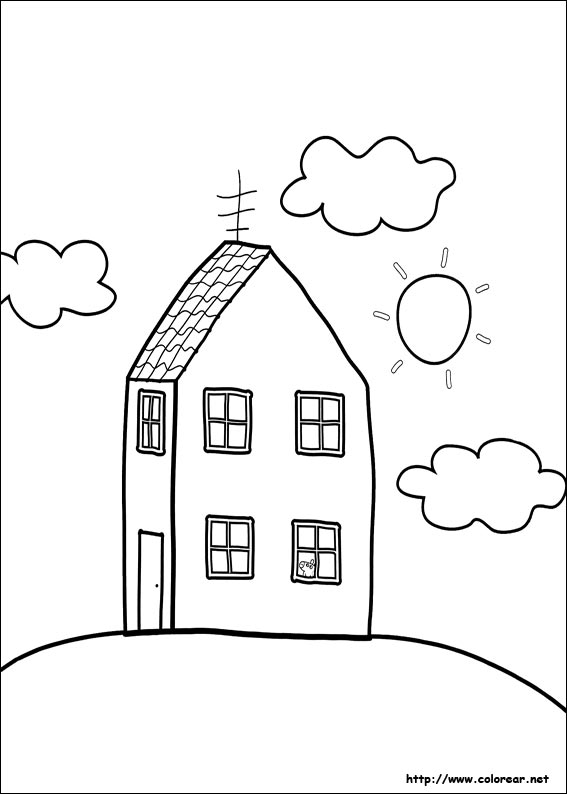 Dibujos para colorear de peppa pig for Peppa pig drawing templates