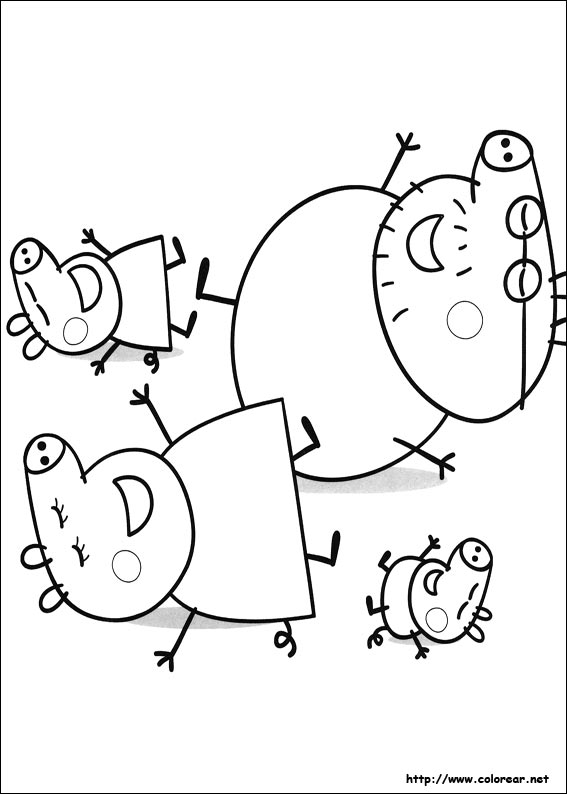 Free coloring pages of rebecca peppa pig