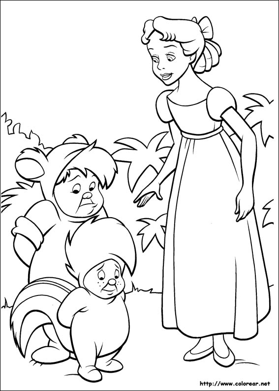 Dibujos para colorear de Peter Pan