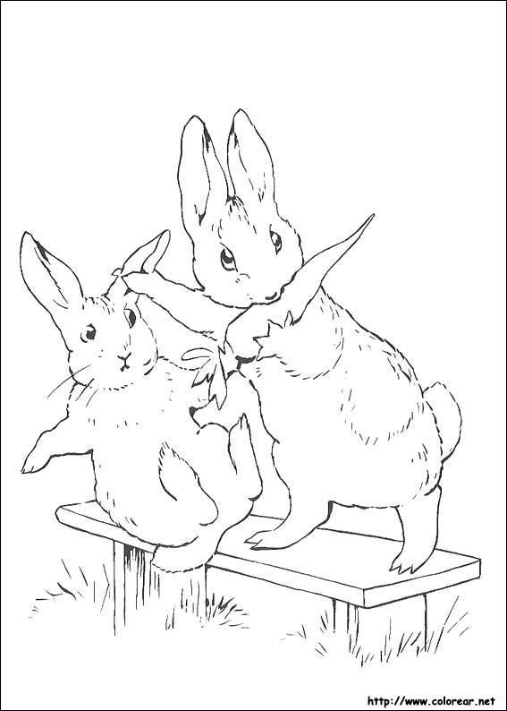 Dibujos para colorear de Peter Rabbit