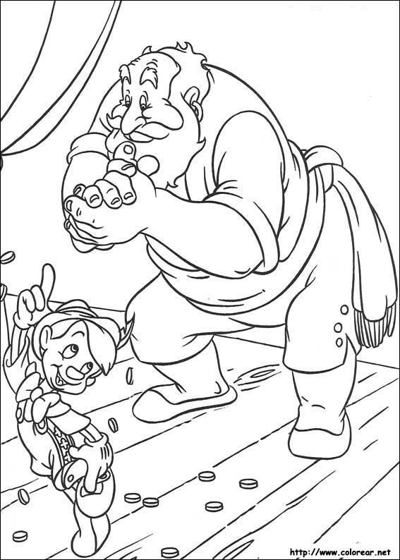 Dibujos de Pinocho para colorear en Colorear.net