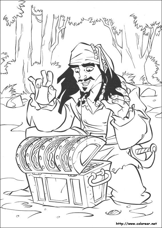 Dibujos de Piratas del Caribe para colorear en Colorear.net
