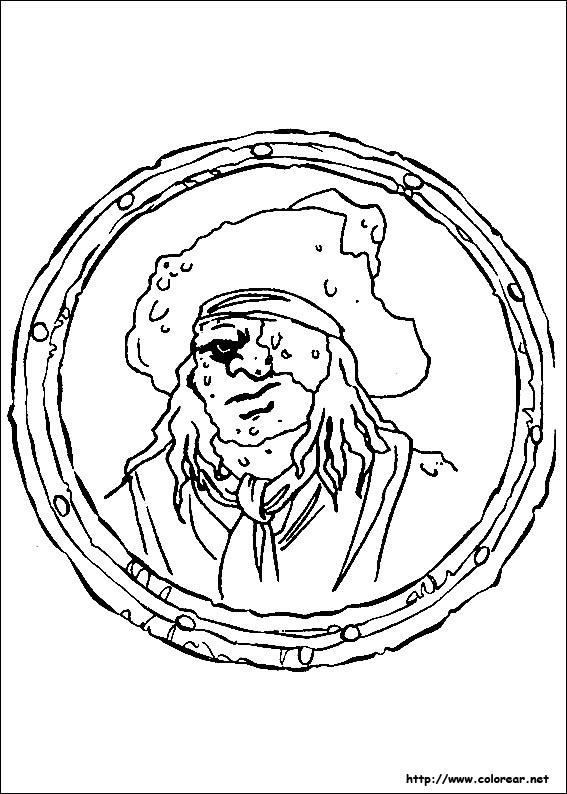 Worksheet. Dibujos de Piratas del Caribe para colorear en Colorearnet