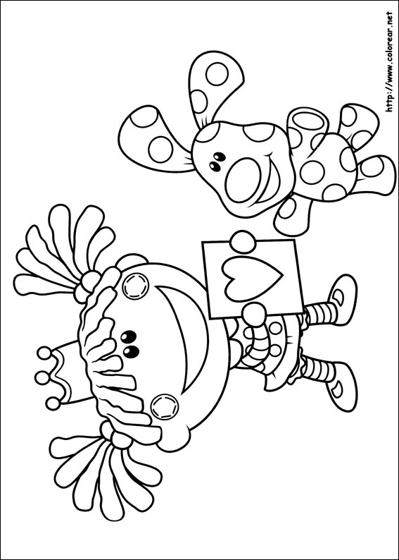 Dibujos para colorear de Las pistas de Blue