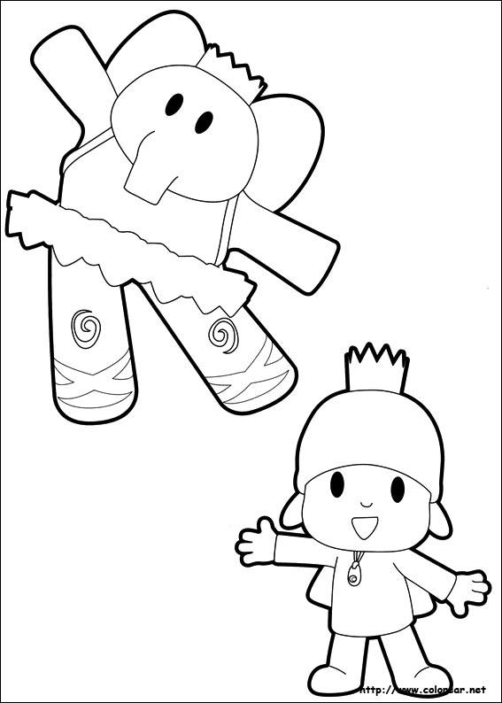 Dibujos para colorear de Pocoy