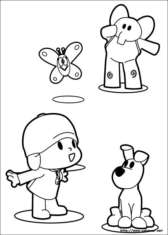 Dibujos Para Colorear De Pocoyo