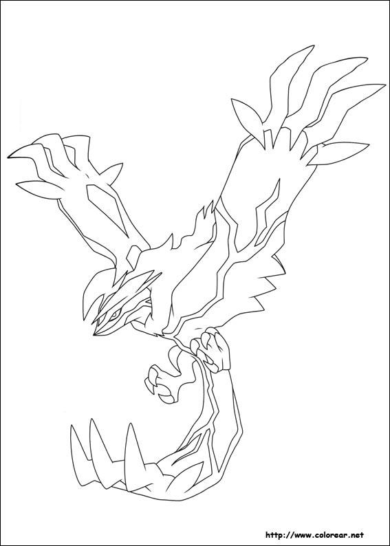 Dibujos para colorear pokemon yveltal ideas creativas for Pokemon yveltal coloring pages