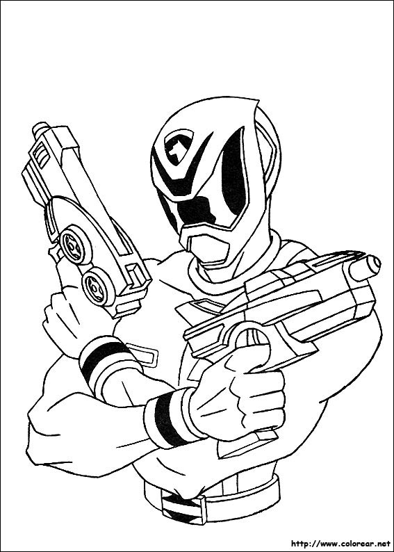 Dibujos de Power Rangers para colorear en Colorearnet