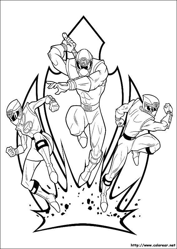 Dibujos de Power Rangers para colorear en Colorear.net
