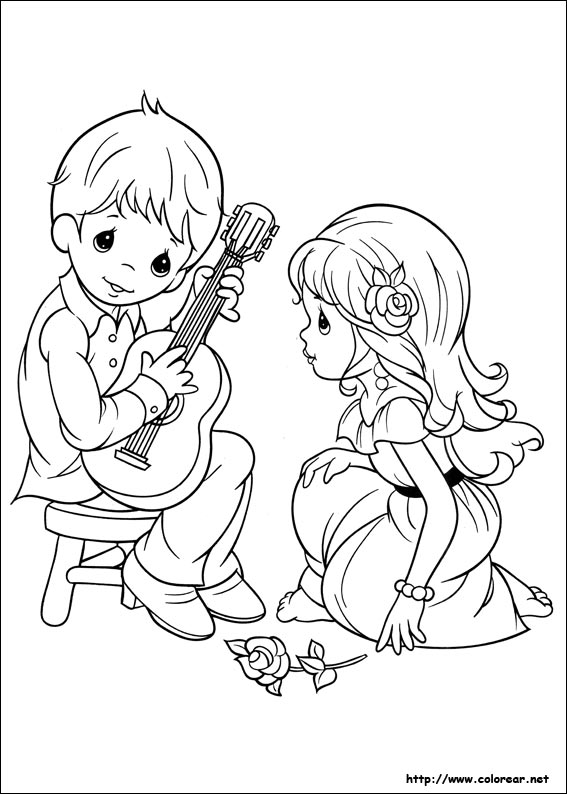 precious moments valentine coloring pages - photo#21