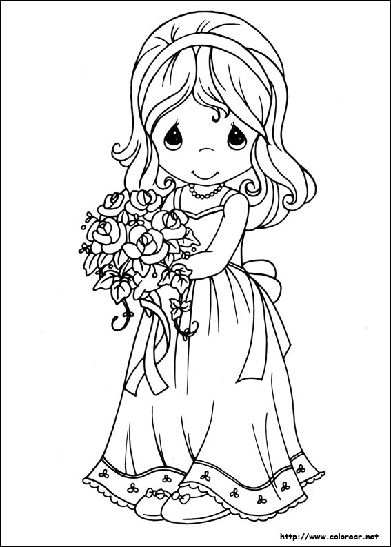 Precious Moments Bride Coloring Pages