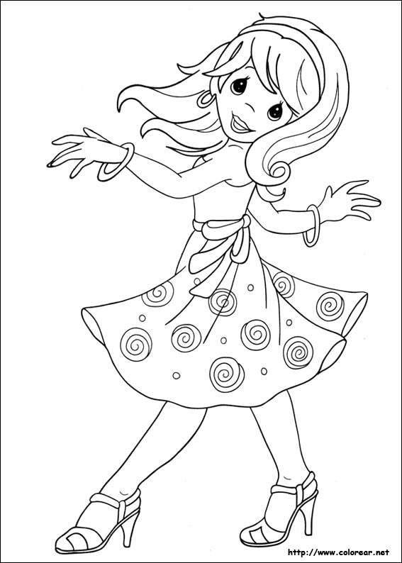 dibujos para coloriar de las bratz: