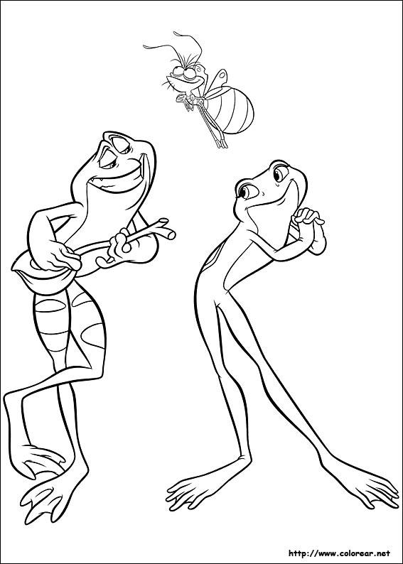 Dibujos para colorear de Tiana la Princesa y el sapo