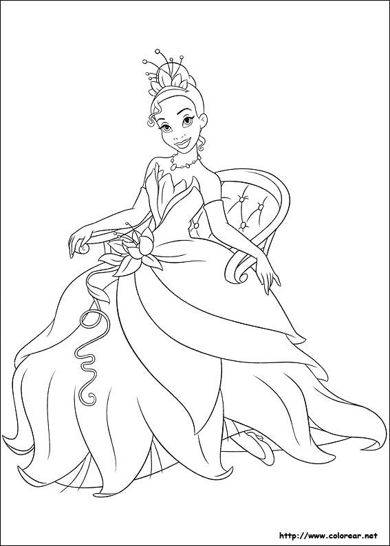 Dibujos De Tiana La Princesa Y El Sapo Para Colorear En Colorear Net