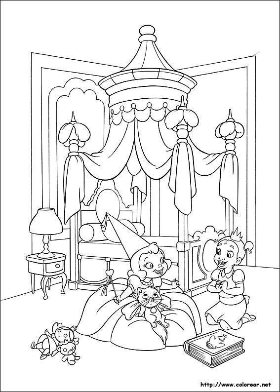 Dorable Disney Princesas Para Colorear Tiana Composición - Ideas ...
