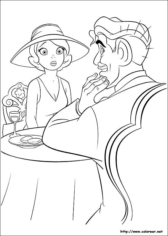 Dibujo Para Colorear De La Princesa Tiana Rana Y El