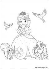 Dibujos de La Princesa Sofia para colorear en Colorear.net