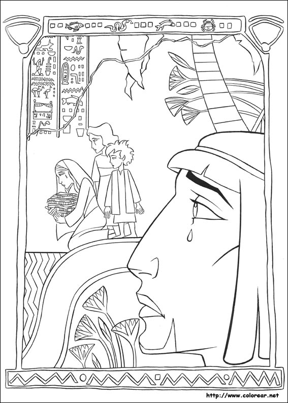 moses in egypt coloring pages - photo#6