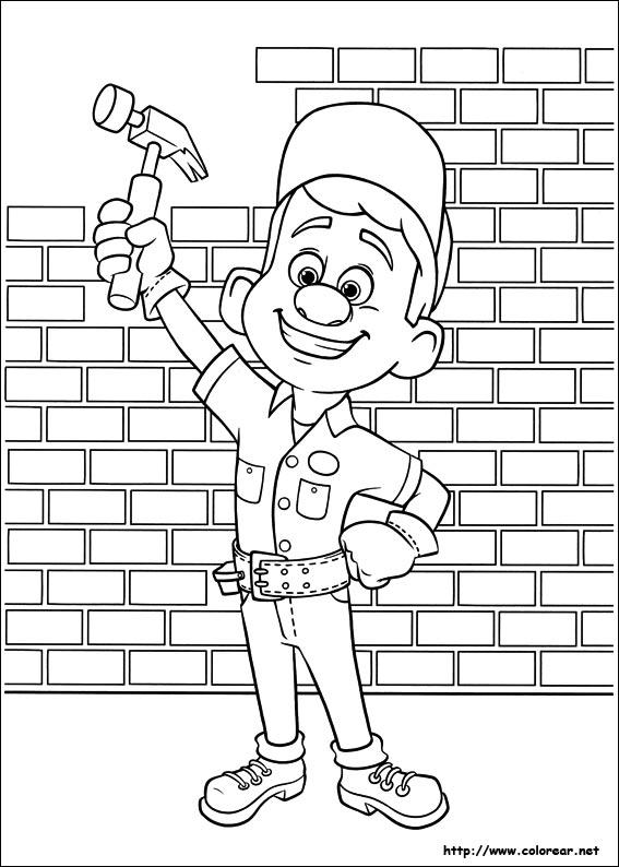 Dibujos para colorear de Ralph, el demoledor